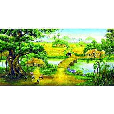 Tranh gạch phong cảnh - Hà Nội2