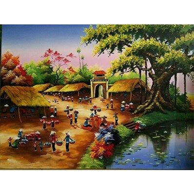 Tranh gạch phong cảnh - Hà Nội1