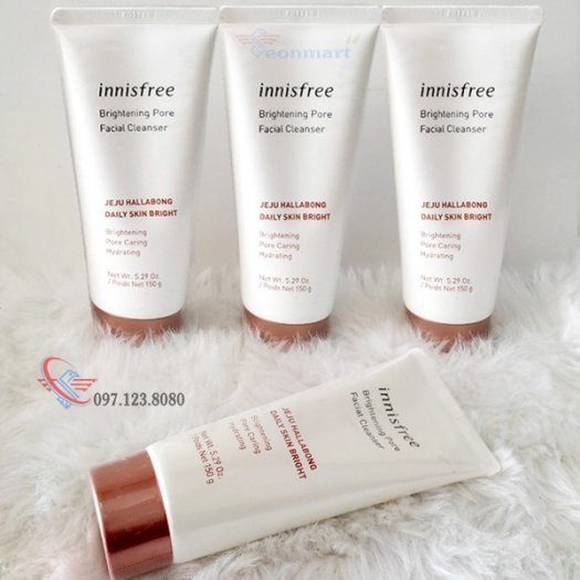 Sữa Rửa Mặt Sáng Da Innisfree Brightening Pore Facial Cleanser 150G0