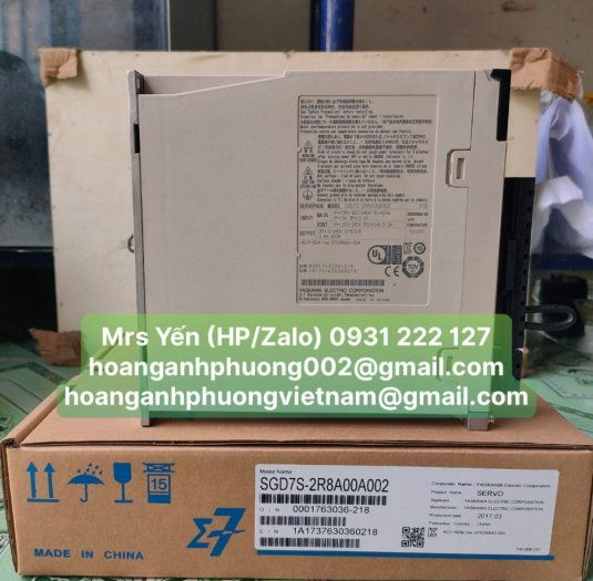 Động cơ SGD7S 2R8A00A002 | Yaskawa | Công Ty Hoàng Anh Phương0