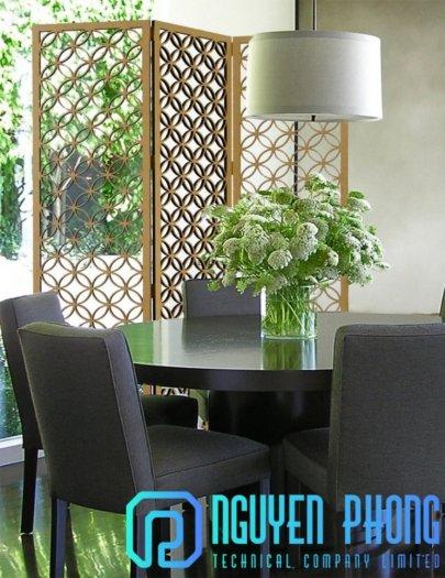 Tiết kiệm không gian phòng khách với vách ngăn hoa văn sắt CNC4