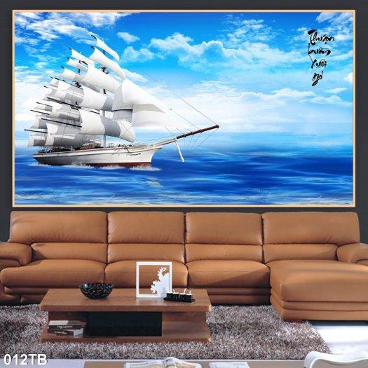 Gạch tranh - tranh thuyền buồm căng gió 3D1
