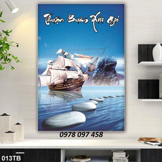 Gạch tranh - tranh thuyền buồm căng gió 3D0