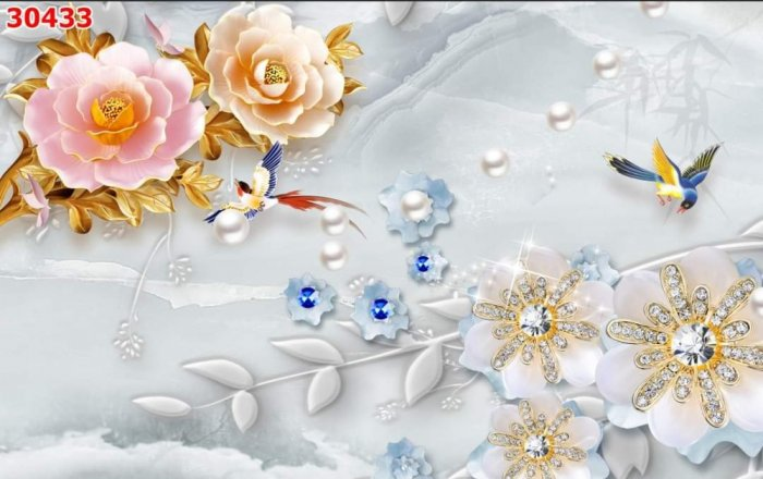Tranh gạch men dán tường- tranh hoa 3D3