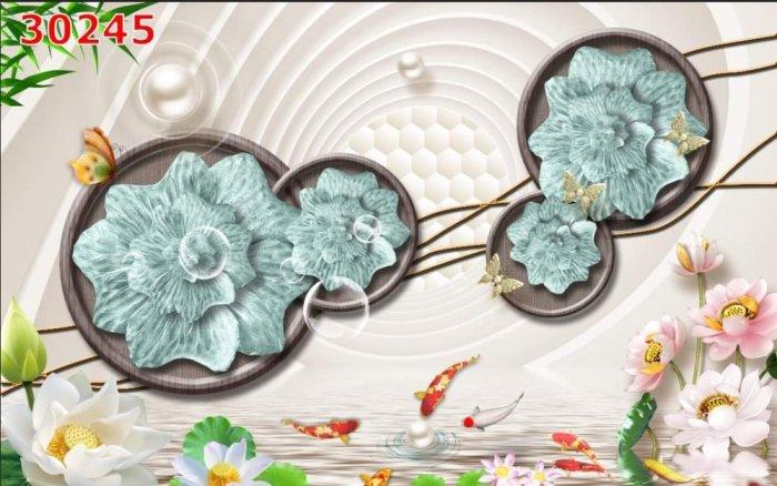 Tranh gạch men dán tường- tranh hoa 3D2