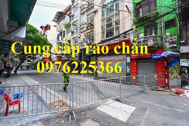 Hàng rào di động mạ kẽm giá tốt tại Hà Nội2
