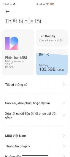 Xiaomi Redmi K30 5G fullbox snapdragon 765G + ốp lưng & thẻ nhớ!!!1