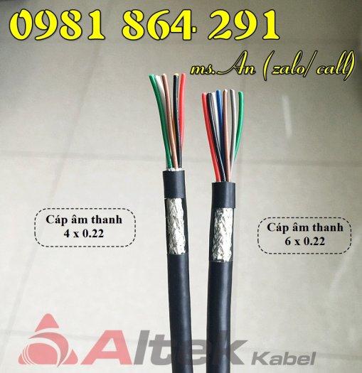 Cáp tín hiệu Altek Kabel 2,4,6,8 lõi tiết diện 0.22mm2 giá tốt0