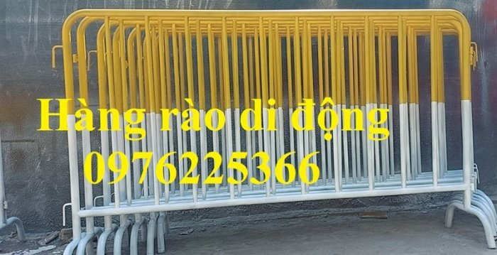 Hàng rào di động sơn phản quang, hàng rào di động thép không ghỉ8