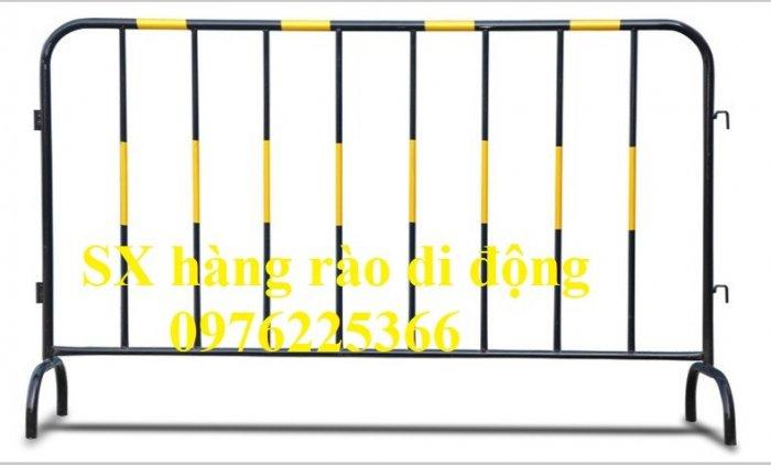 Hàng rào di động sơn phản quang, hàng rào di động thép không ghỉ6