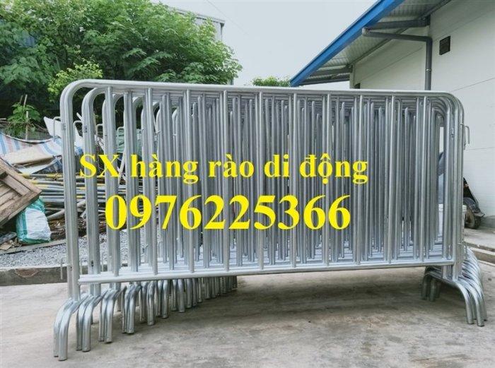 Hàng rào di động sơn phản quang, hàng rào di động thép không ghỉ1