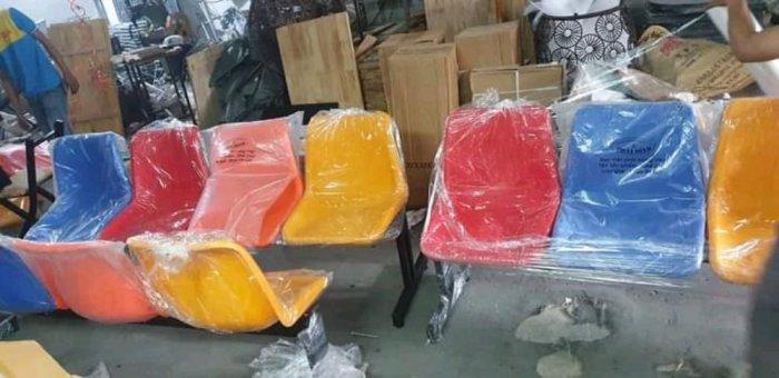 Ghế ngồi chờ công ty bệnh viện mặt nhựa chân sắt giá sỉ tại xưởng sản xuất anh khoa 47770