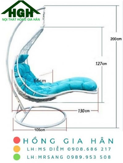 Ghế xích đu mây nhựa Hồng Gia Hân X0090