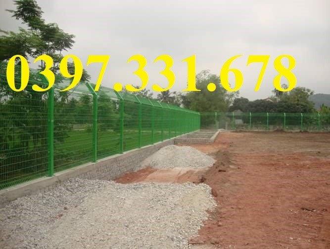 Hàng rào lưới thép, lưới thép hàng chập, lưới thép hàn phi 3, 4, 5 giá sỉ3
