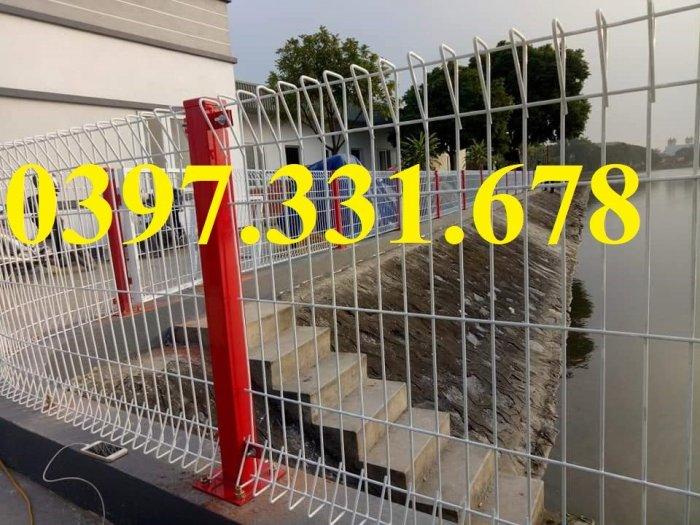Hàng rào lưới thép, lưới thép hàng chập, lưới thép hàn phi 3, 4, 5 giá sỉ0
