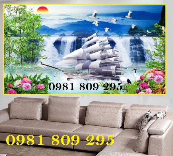 Tranh 3d thuyền - gạch tranh 3d - tranh ốp tường1