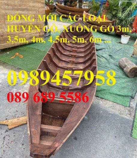 Sản xuất Thuyền gỗ ba lá, Thuyền gỗ trang trí 3m, Xuồng gỗ 3m, 4m7
