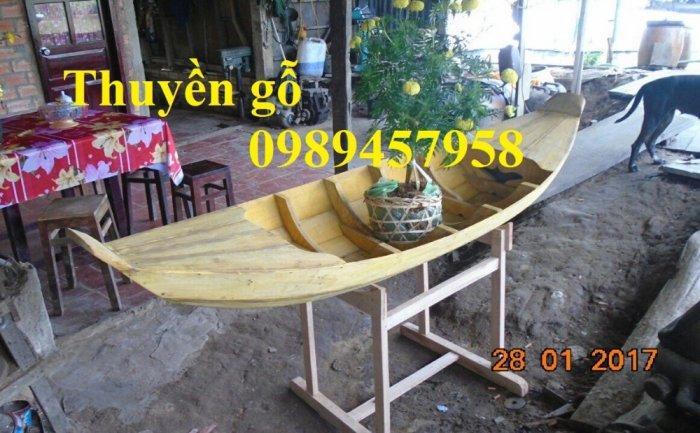 Sản xuất Thuyền gỗ ba lá, Thuyền gỗ trang trí 3m, Xuồng gỗ 3m, 4m5