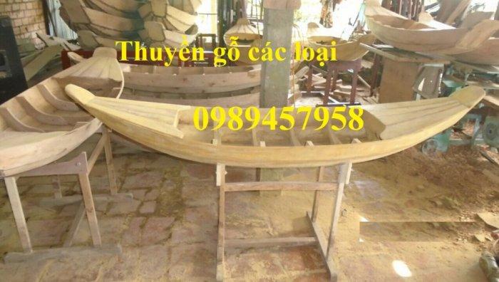 Sản xuất Thuyền gỗ ba lá, Thuyền gỗ trang trí 3m, Xuồng gỗ 3m, 4m4