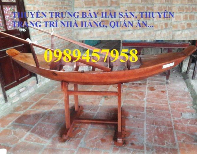 Sản xuất Thuyền gỗ ba lá, Thuyền gỗ trang trí 3m, Xuồng gỗ 3m, 4m3