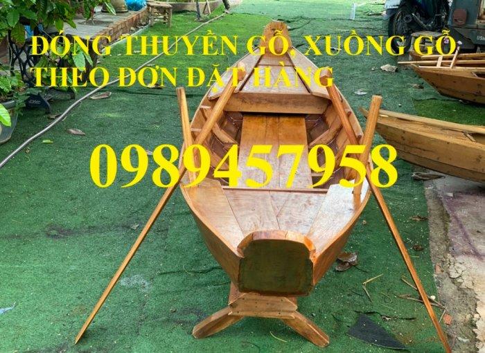 Sản xuất Thuyền gỗ ba lá, Thuyền gỗ trang trí 3m, Xuồng gỗ 3m, 4m2