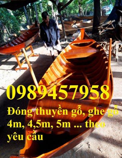 Sản xuất Thuyền gỗ ba lá, Thuyền gỗ trang trí 3m, Xuồng gỗ 3m, 4m1