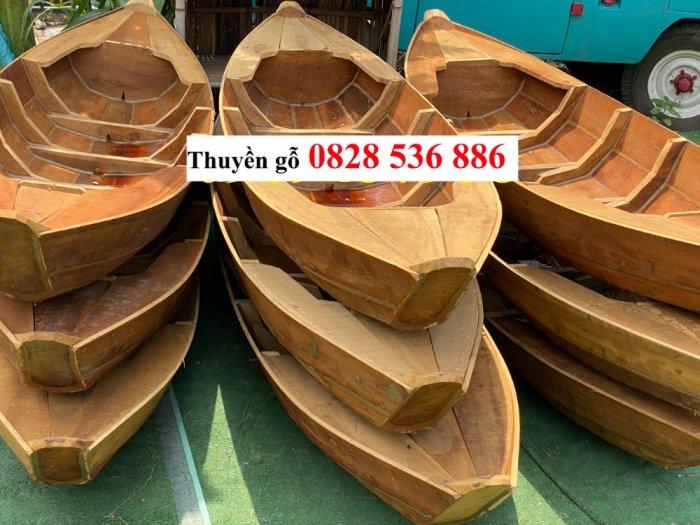 Sản xuất Thuyền gỗ ba lá, Thuyền gỗ trang trí 3m, Xuồng gỗ 3m, 4m0