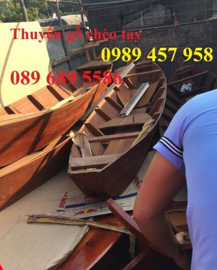 Đóng thuyền gỗ trang trí, Thuyền gỗ 2m, Thuyền 2,5m trang trí4