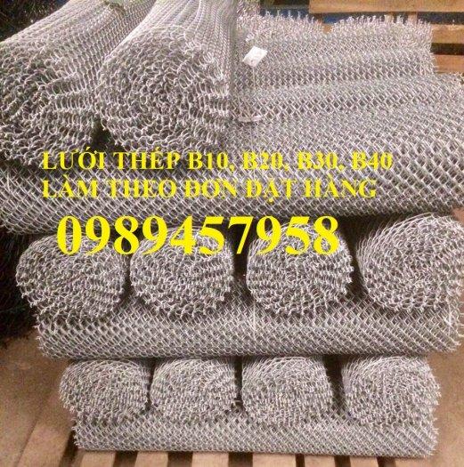 Lưới b30 bọc nhựa, Thép B30 mạ kẽm, Lưới B20, B30 20x20, 30x300