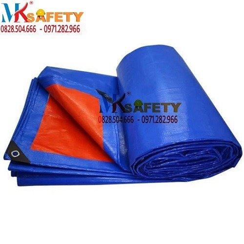 Bạt xanh cam khổ 4 mét 6 mét ( Nhận gia công theo yêu cầu)3