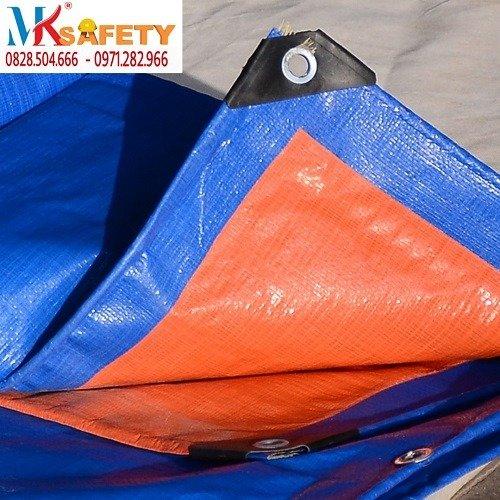 Bạt xanh cam khổ 4 mét 6 mét ( Nhận gia công theo yêu cầu)2
