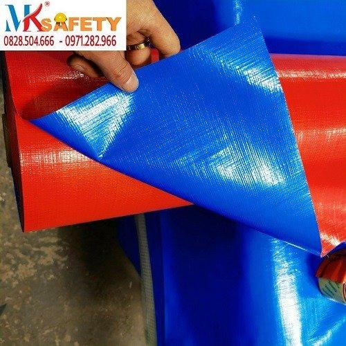 Bạt xanh cam khổ 4 mét 6 mét ( Nhận gia công theo yêu cầu)1