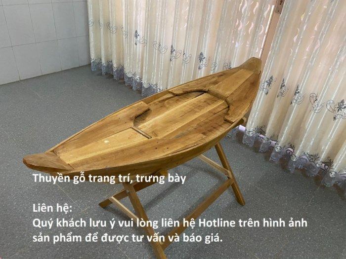 Thuyền gỗ trang trí, trưng bày siêu thị, nhà hàng, phòng khách-TG32