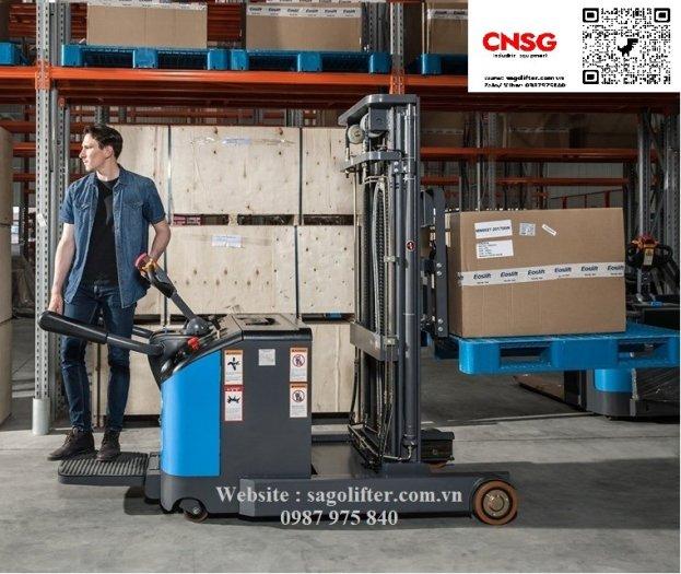 Cần bán xe nâng điện đứng lái càng Forklift dùng cho mọi loại pallet0