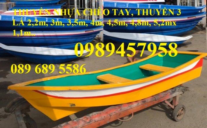 Bán Thuyền chèo tay cho 3 người, Thuyền composite giá rẻ3