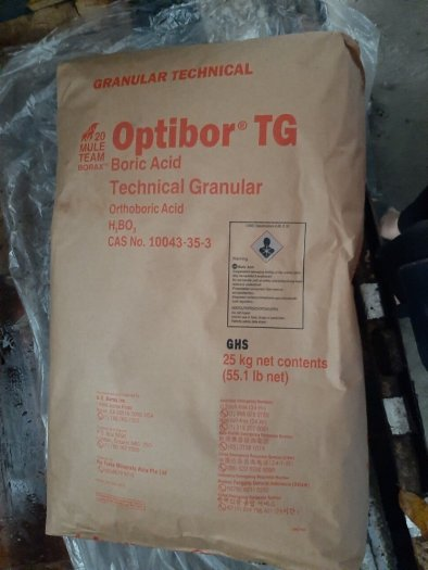 Acid boric (HBO3) – Optibor – Borax/Mỹ0