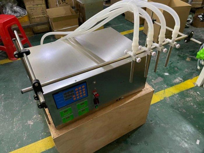 Máy chiết rót bơm nhu động 4 đầu chiết, máy chiết chai tinh dầu, vacxin2