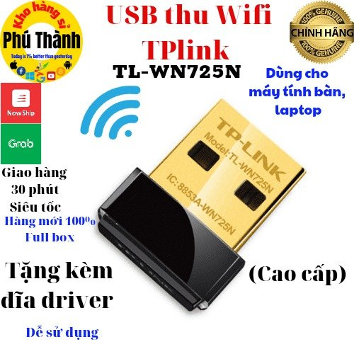Bộ thu wifi máy tính bàn - usb thu wifi nano cao cấp tplink/ totolink/ lblink2