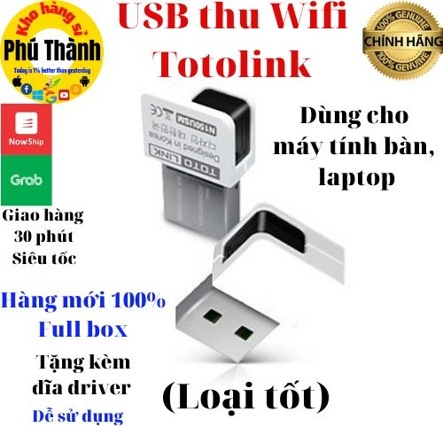 Bộ thu wifi máy tính bàn - usb thu wifi nano cao cấp tplink/ totolink/ lblink1