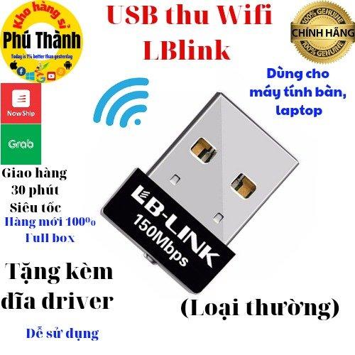Bộ thu wifi máy tính bàn - usb thu wifi nano cao cấp tplink/ totolink/ lblink0