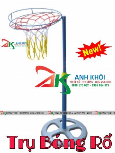 Trụ bóng rổ mầm non,cột bóng rổ vận động thể chất dành cho bé0