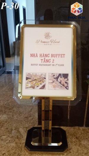 Bản biển chỉ dẫn menu nhà hàng - khách sạn P-302