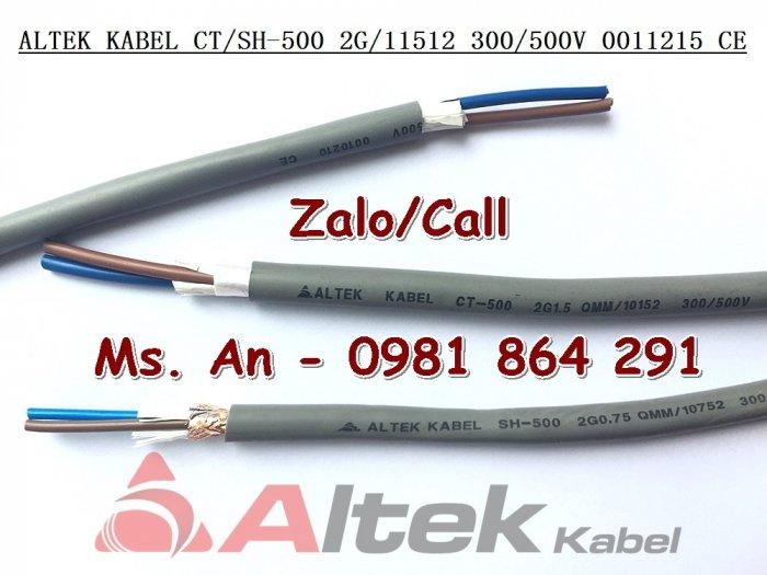 Sẵn kho số lượng lớn cáp điều khiển 2 lõi CT500,SH500 tiết diện 0.5 đến 1.5mm23