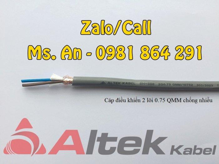 Sẵn kho số lượng lớn cáp điều khiển 2 lõi CT500,SH500 tiết diện 0.5 đến 1.5mm20