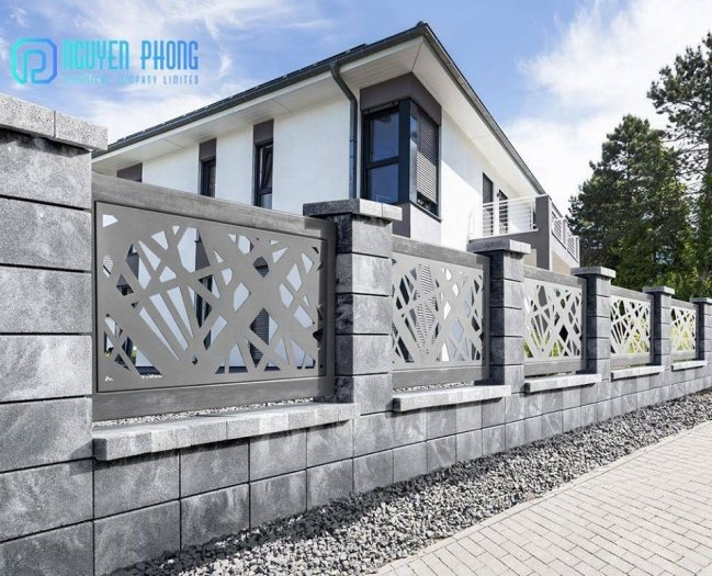 Tổng hợp mẫu hàng rào sắt CNC đẹp rẻ với công nghệ sơn tốt nhất hiện nay6