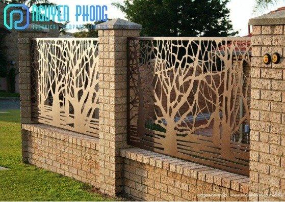 Tổng hợp mẫu hàng rào sắt CNC đẹp rẻ với công nghệ sơn tốt nhất hiện nay4