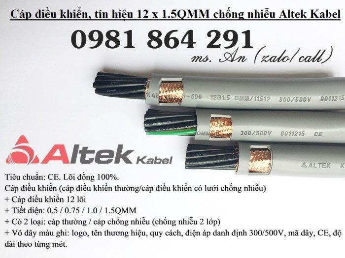 Cáp tín hiệu, cáp điều khiển 12 lõi: 12x0.5,12x0.75,12x1.0, 12x1.5mm20