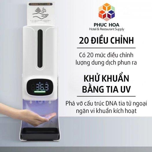 Máy đo thân nhiệt tích hợp rửa tay sát khuẩn K96