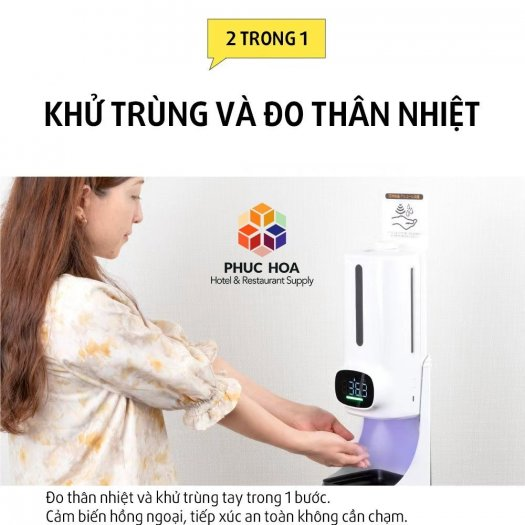 Máy đo thân nhiệt tích hợp rửa tay sát khuẩn K94