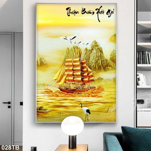 Tranh gạch men thuyền buồm trang trí nhà2